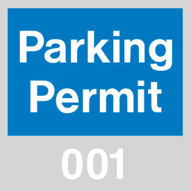 Parking Permit - Blue Windshield 001 - 100