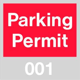 Parking Permit - Red Windshield 001 - 100