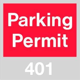 Parking Permit - Red Windshield 401 - 500