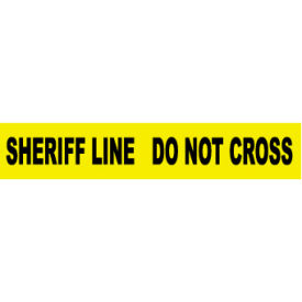 Printed Barricade Tape - Sheriff Line Do Not Cross
