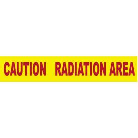 Printed Barricade Tape - Caution Radiation Area