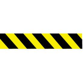 Printed Barricade Tape - Yellow and Black Stripe - 200 Feet
