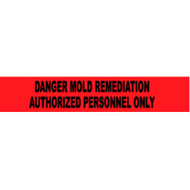 Printed Barricade Tape - Danger Mold Remediation Authorized Personnel Only