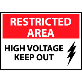 Restricted Area Plastic - High Voltage Keep Out