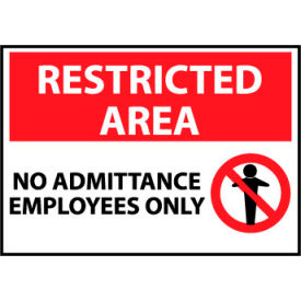 Restricted Area Aluminum - No Admittance Employees Only