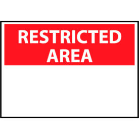 Restricted Area Plastic - Restricted Area Blank with Header Only