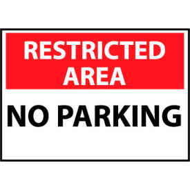 Restricted Area Aluminum - No Parking