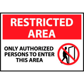 Restricted Area Aluminum - Only Authorized Persons To Enter This Area