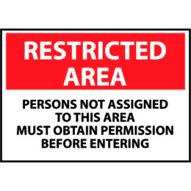 Restricted Area Plastic - Persons Not Assigned To This Area Must Obtain