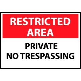 Restricted Area Plastic - Private No Trespassing