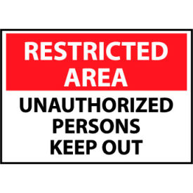 Restricted Area Aluminum - Unauthorized Persons Keep Out