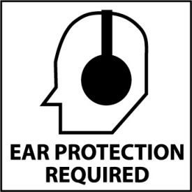 Graphic Safety Labels - Ear Protection Required