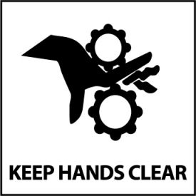 Graphic Safety Labels - Keep Hands Clear