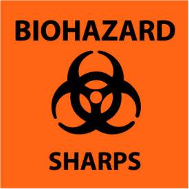 Graphic Safety Labels - Biohazard Sharps
