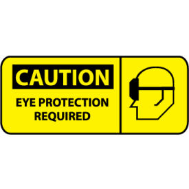 Pictorial OSHA Sign - Vinyl - Caution Eye Protection Required