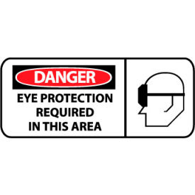 Pictorial OSHA Sign - Plastic - Danger Eye Protection Required In This Area