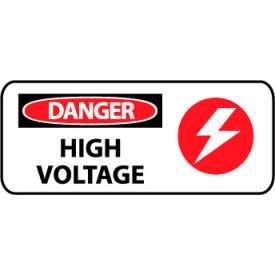 Pictorial OSHA Sign - Vinyl - Danger High Voltage