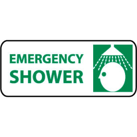 Pictorial OSHA Sign - Vinyl - Emergency Shower