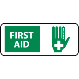 Pictorial OSHA Sign - Vinyl - First Aid