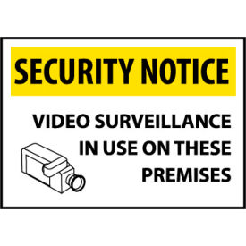 Security Notice Plastic - Video Surveillance In Use On These Premises
