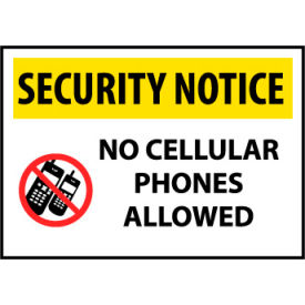 Security Notice Plastic - No Cellular Phones Allowed