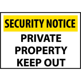 Security Notice Plastic - Private Property Keep Out