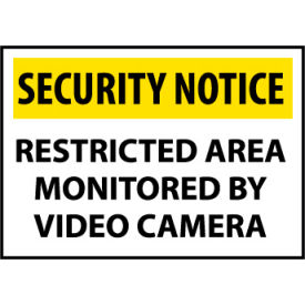 Security Notice Plastic - Restricted Area Monitored By Video Camera