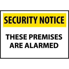 Security Notice Aluminum - These Premises Are Alarmed