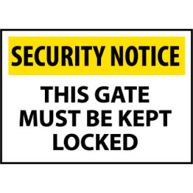 Security Notice Aluminum - This Gate Must Be Kept Locked