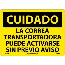 Spanish Aluminum Sign - Cuidado La Correa Transportadora Puede Activarse
