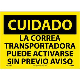 Spanish Vinyl Sign - Cuidado La Correa Transportadora Puede Activarse