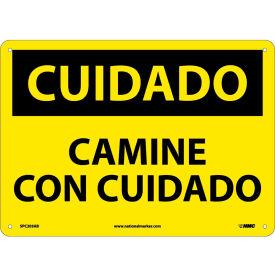 Spanish Aluminum Sign - Cuidado Camine Con Cuidado