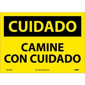 Spanish Vinyl Sign - Cuidado Camine Con Cuidado