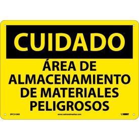 Spanish Aluminum Sign - Cuidado Area De Almacenamiento De Materiales Peligrosos