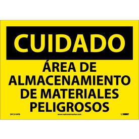 Spanish Vinyl Sign - Cuidado Area De Almacenamiento De Materiales Peligrosos