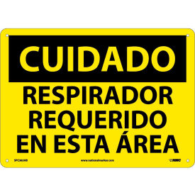 Spanish Aluminum Sign - Cuidado Respirador Requerido En Esta Area