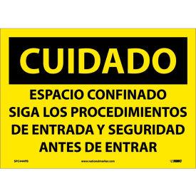 Spanish Vinyl Sign - Cuidado Espacio Confinado Siga Los Procedimientos
