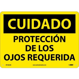 Spanish Aluminum Sign - Cuidado Protección De Los Ojos Requerida