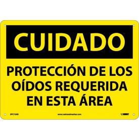 Spanish Aluminum Sign - Cuidado Protección De Los Oidos Requerida