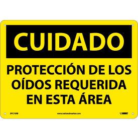 Spanish Plastic Sign - Cuidado Protección De Los Oidos Requerida