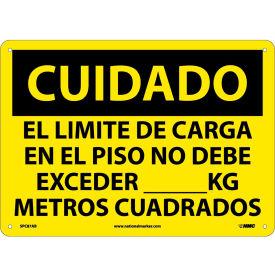 Spanish Aluminum Sign - Cuidado El Limite De Carga En El Piso No Debe Exceder