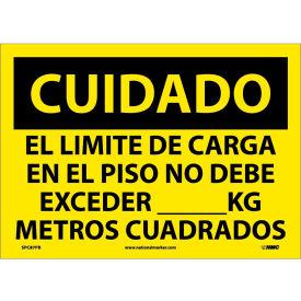Spanish Vinyl Sign - Cuidado El Limite De Carga En El Piso No Debe Exceder