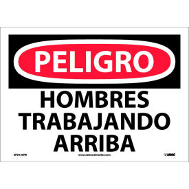 Spanish Vinyl Sign - Peligro Hombres Trabajando Arriba