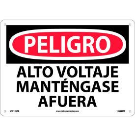 Spanish Aluminum Sign - Peligro Alto Voltaje Mantengase Afuera