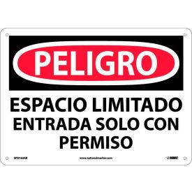 Spanish Aluminum Sign - Peligro Espacio Limitado Entrada Solo Con Permiso