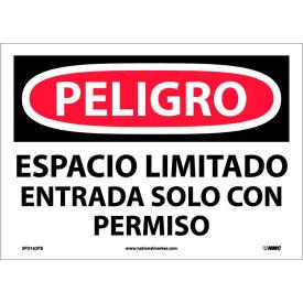 Spanish Vinyl Sign - Peligro Espacio Limitado Entrada Solo Con Permiso