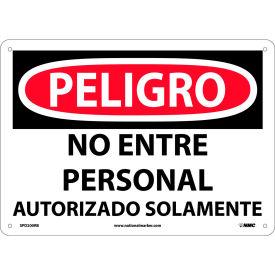 Spanish Plastic Sign - Peligro No Entre Personal Autorizado Solamente