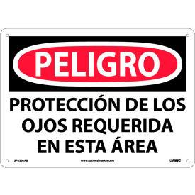 Spanish Aluminum Sign - Peligro Protección De Los Ojos Requerida