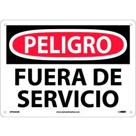 Spanish Aluminum Sign - Peligro Fuera De Servicio