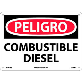 Spanish Aluminum Sign - Peligro Combustible Diesel